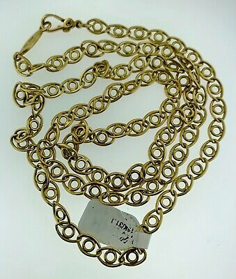 Authentic GUCCI Vintage~Solid 18Kt Gold~Circle Links~Long Chain~32 Inches~Italy~