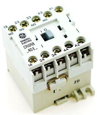 Ge Miniature Din Rail Control Relay Cr6rb40el Fits Cs4-40e-24 24vdc Coil 4 No