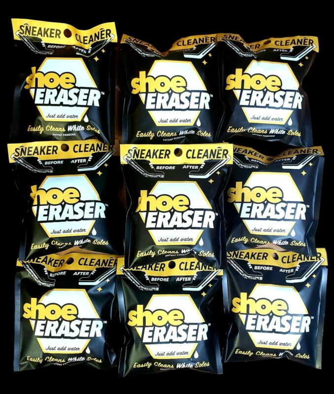 SNEAKER CLEANER Shoe Eraser Easily Cleans White Soles just add water LOT of 10