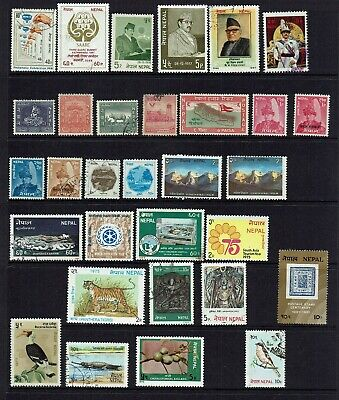 NEPAL....MIXED COLLECTION OF 31 STAMPS