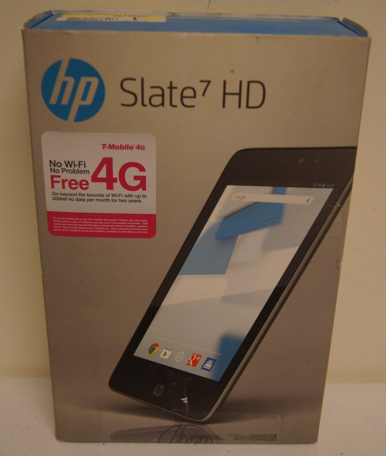 """New! HP Slate 7 HD 16GB Silver Tablet with Beats Audio (7"""" Screen, Model 3400US)"""