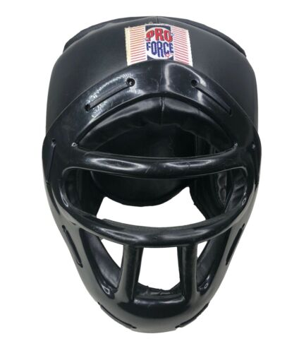 ProForce Headguard Headgear with Face Cage Shield Sparring Karate Tae Kwon Do