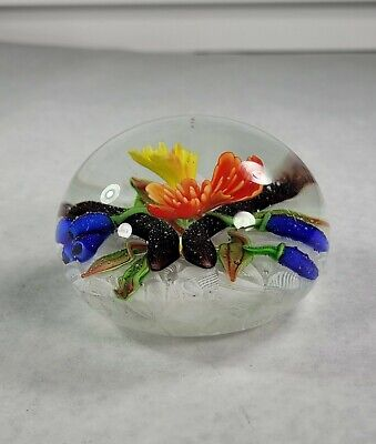 Dynasty Gallery Heirloom Collectibles Paperweight Around The World Flowers