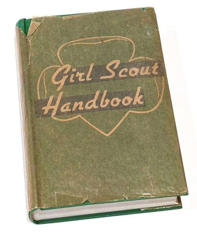 Vintage 1951 Girl Scout Handbook with onionskin - Very Good Condition