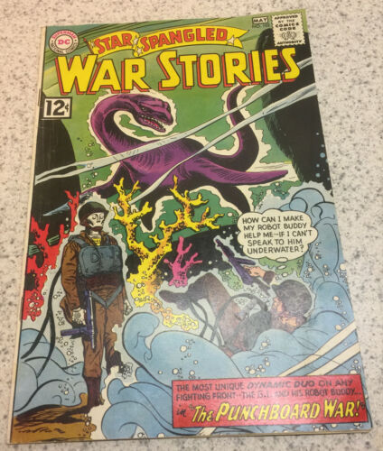 1962 DC COMICS STAR SPANGLED WAR STORIES ISSUE 102 COMIC BOOK 5.5 FN -