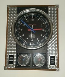 Spirit Of St Louis Charles Lindbergh Airfield Wall Clock. Humidity & Temperature