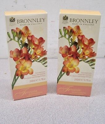 Pack of 2 Bronnley Freesia Moisturizing Body Lotion 8.7 fl. oz. / 250 ml