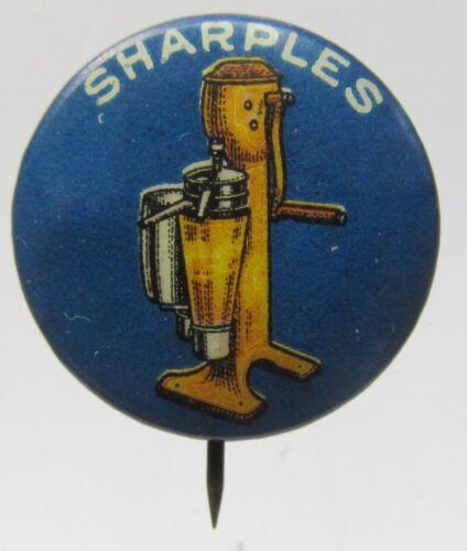 circa 1910 miniature SHARPLES Cream Separator dairy celluloid pinback button  *