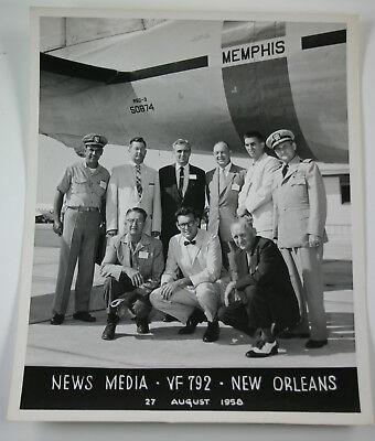 VF-792 News Media NARTU Memphis 1958 8x10 Photo