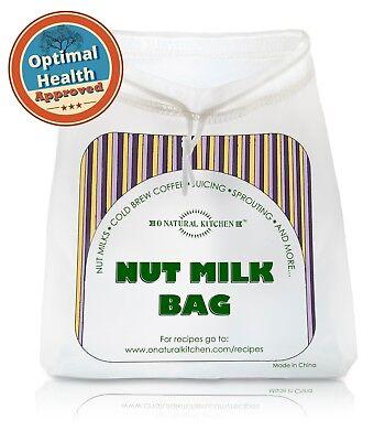 Nut Milk Bag - Organic Nut Milks & Juicing, Cold Brew Coffee, Sprouting & Health