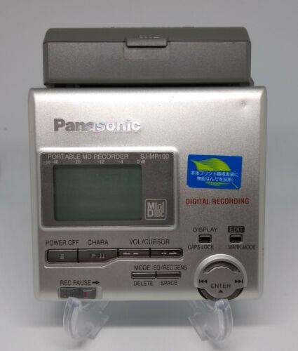 Panasonic SJ-MR100 Portable MiniDisc MD player/recorder *Works*