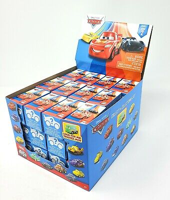 Disney Cars Metal Mini Racers Series 2 Mystery Minis Blind Box 36 Packs +Display