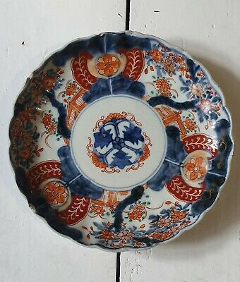 Antique Early Meiji Period Japanese Imari Porcelain 9inch Plate, unmarked