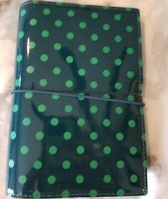 Filofax Domino Patent Personal Organizer Planner Pine With Spots
