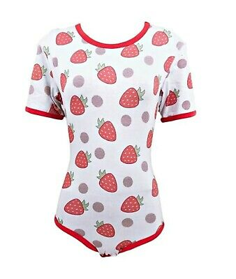 Strawberries Bodysuit ABDL DDLG (2XL) for sale  Shipping to India