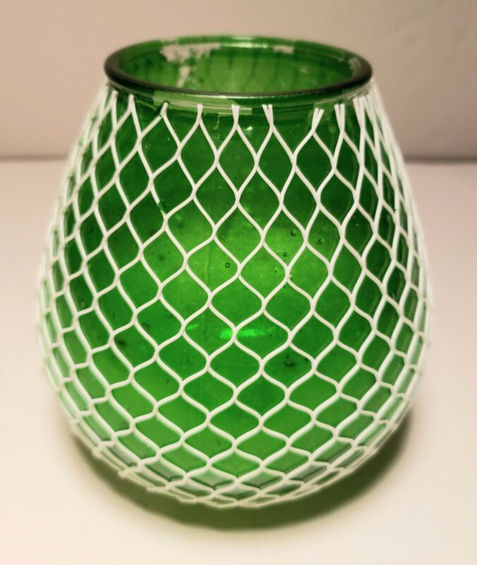 Vintage - Glass Netted Restaurant Table Candle - New/Old Stock