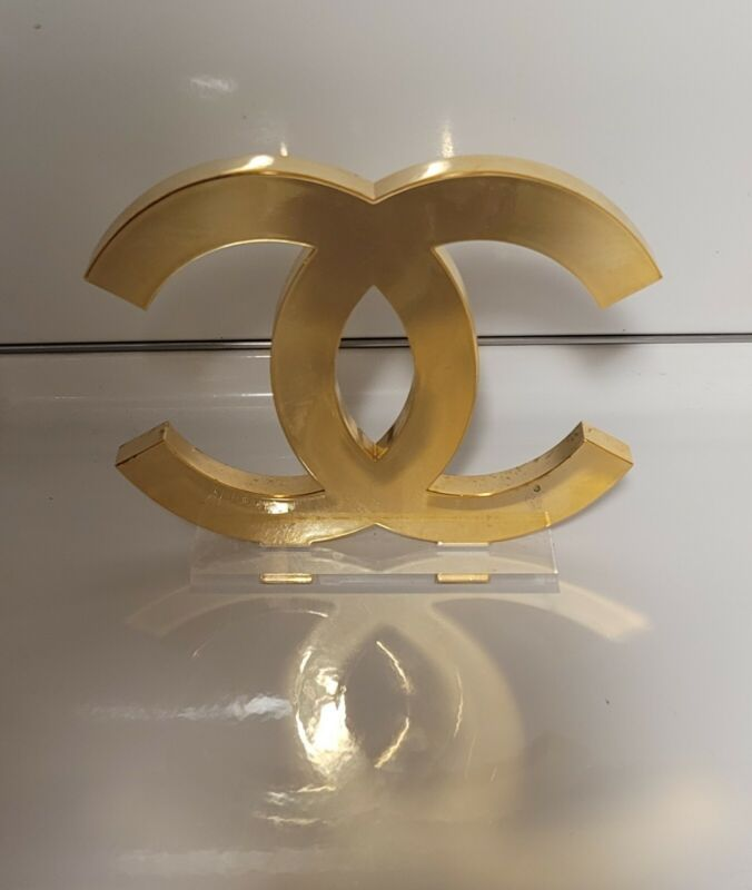 Chanel *RARE* CC Logo Sign for Display GOLD