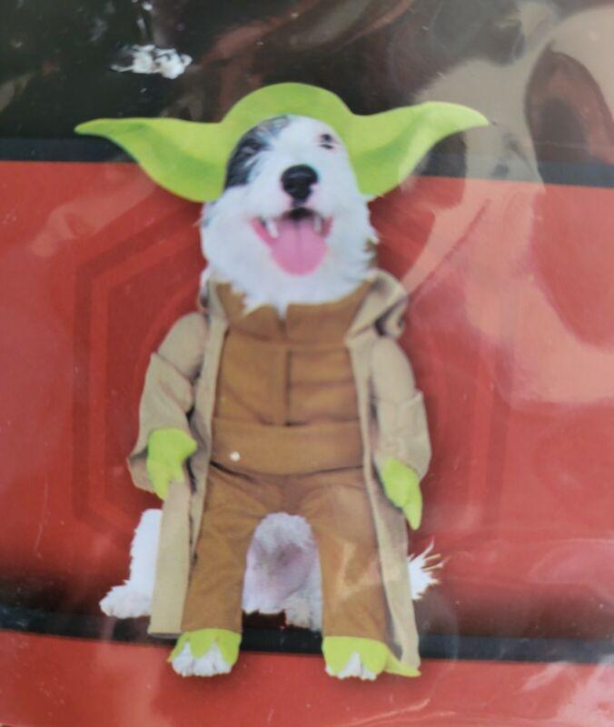 Dog Halloween Costume Disney Star Wars Yoda Size Medium Pet Clothes