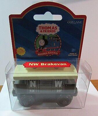 THOMAS THE TANK TRAIN-WOOD NW BRAKEVAN TROUBLSOME RED LABEL 2001 W/CARD**NIB**