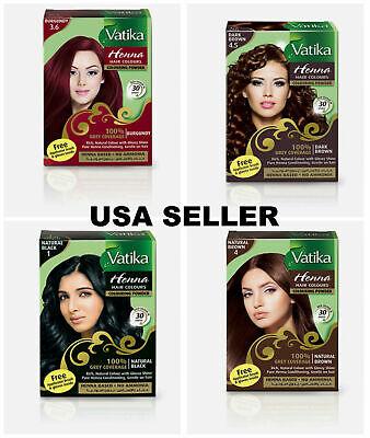 Dabur Vatika Henna Powder Best Hair Color Dark Natural Brown Burgundy Black