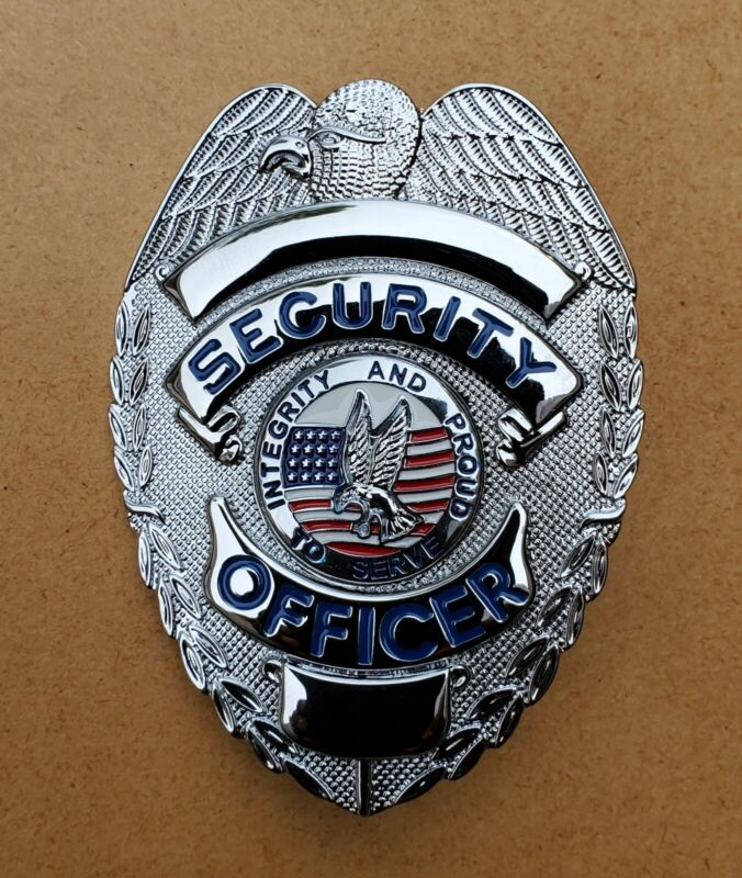 """Security Officer """"Integrity and Proud to Serve"""" (Silver / Blue text)"""
