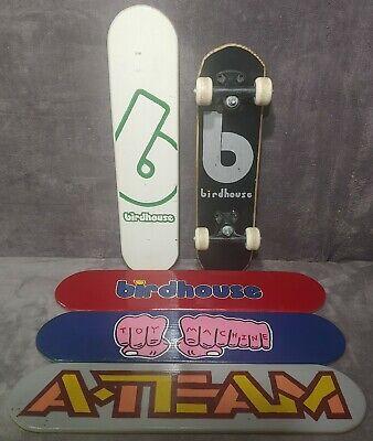 5 Vintage Custom Hand Painted Skateboard Decks Birdhouse Toy Machine A-Team Rare