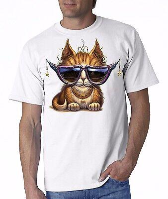 cat shirt, Cat & Purple Sunglasses Shirt,  Silly Kitty Kat with Shades and (Cat With Sunglasses Shirt)