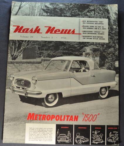 1956 Nash News Brochure Metropolitan Ambassador Special Nice Original 56
