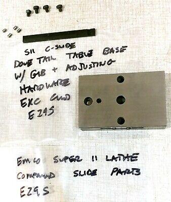 Emco Maximat Super 11 Lathe Compound Slide Parts Dovetail Base Gib E29s