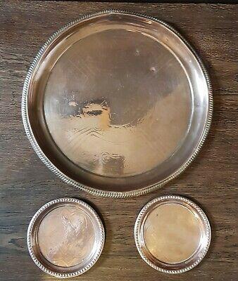 JS&S, Joseph Sankey, Solid Copper Tray, coasters