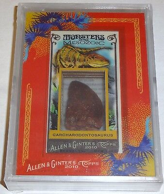 Topps Allen & Ginter Carcharodontosaurus Dinosaur Relic Tooth 1/1 Monsters 2010