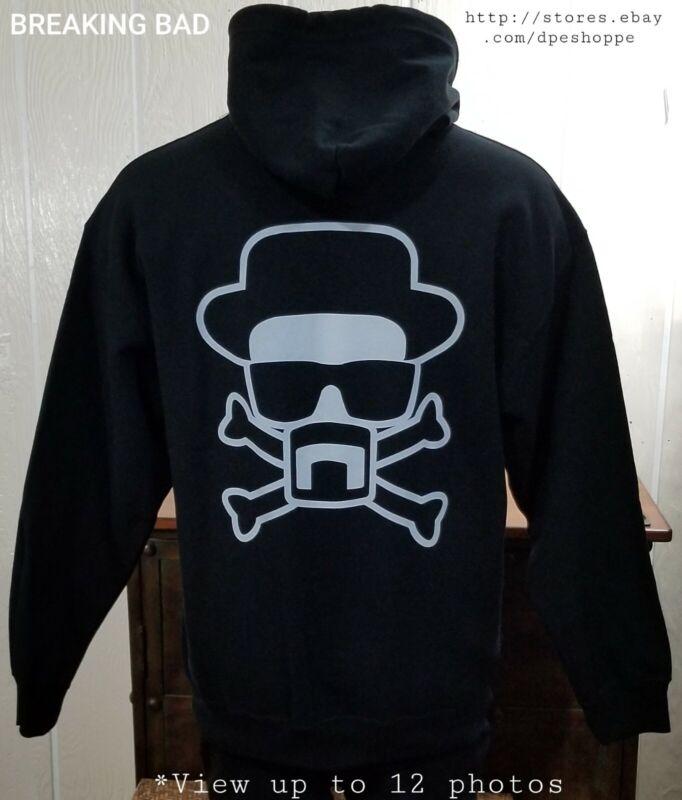 Breaking Bad Zip Hoodie Sweatshirt - Heisenberg Crossbones Back Graphic Men