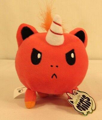TeeTurtle Plushie Angry Unicorn Mini - Dark Pink, Orange, Yellow - NWT](Unicorn Plushie)