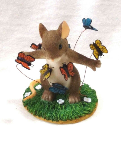 "Charming Tails ""You Give Me Butterflies"" Love Nature (Mouse) NIB [NumberedLtdEd]"