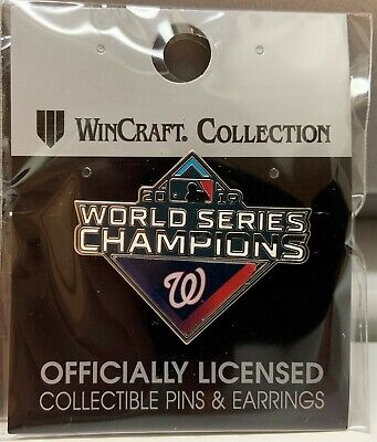 WASHINGTON NATIONALS 2019 WORLD SERIES CHAMPIONS DIAMOND SHAPE COLLECTOR PIN NEW