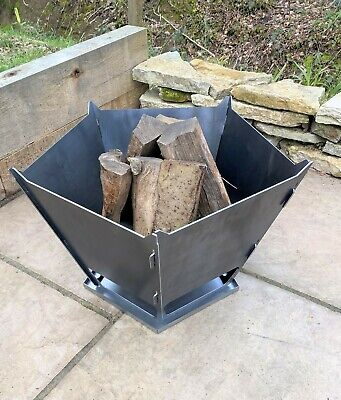 Fire Pit Medium 5 Sided NO MOTIF Flat Packed Easy Assembly FREE SHIPPING