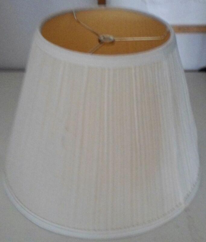 Large Vintage Creamy White Silk Lamp Shade Ebay