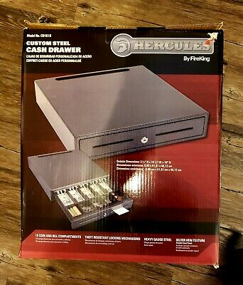 Fireking Hercules Steel Cash Drawer Cd1618 New 2 Keys Point Of Sale Box