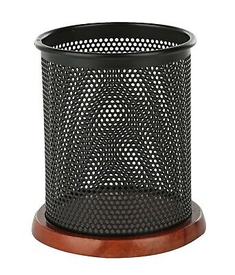 Klearex Black Mesh Pen Pencil Holder Office Supply Cup- Desk Accessory