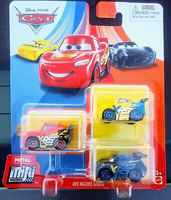 2020 DISNEY PIXAR CARS METAL MINI RACERS XRS 3 PK w/ JACKSON STORM, LIGHTNING +