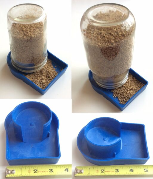 USA 1pc Chick Feeder & 1pc Drown Proof Waterer Poultry Fowl Chicken Quail Feeder 9