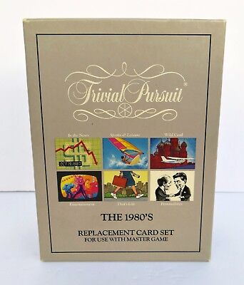 Trivial Pursuit 1980's Replacement Card Set Masters Game