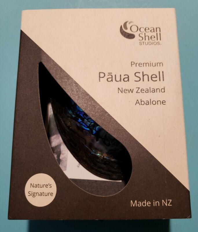 "Ocean Shell Studios Premium Paua Shell New Zealand Abalone 5"" - 6"" NEW IN BOX"