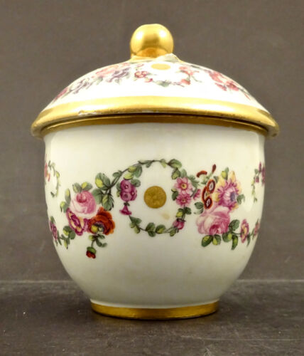 Antique Sevres Covered Sugar Box, 18th c