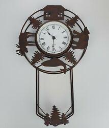 Vintage Wildlife Cabin Wall Clock