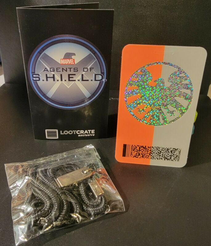 Marvel Agents of SHIELD EFX Badge Lanyard Replica Loot Crate Lootcrate Exclusive