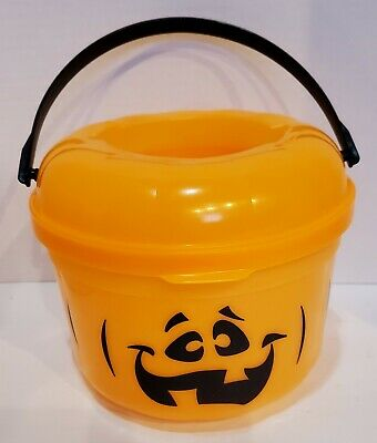Vintage McDonalds Halloween 1993 Pumpkin Candy Pail Trick~or~Treat Bucket (A8)