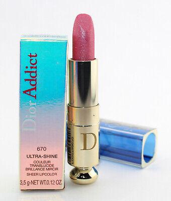 Dior Addict Ultra Shine Sheer Lipcolor Lipstick 670 Shiniest Pomegranate NIB Dior Addict Ultra Shine Lipstick
