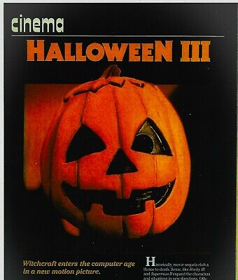 Don Post HalloweeN III Mask RAREly Seen Trade Article w/Alternate Tag Line 1982