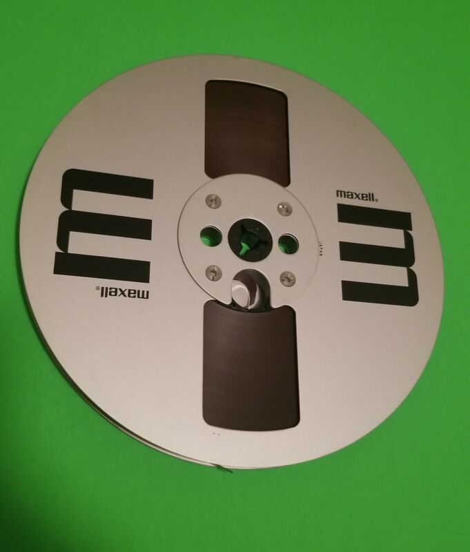 """Maxell 7"""" Metal Reel With Blank Tape"""